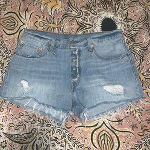 Levi's cutoff shorts!